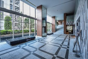 The lobby area of Park Tower Umeda