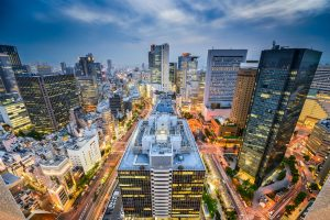 A photo of the Umeda Station south of Osaka Station